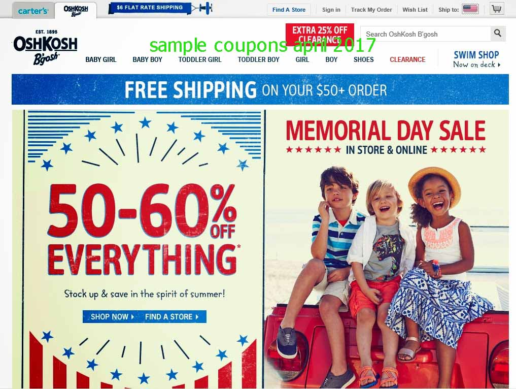 Save with 16 active OshKosh B'gosh promo codes, coupons, and free shipping deals. 🔥 Today's Top Deal: (@Amazon) Up To 20% Off OshKosh B'gosh. On average, shoppers save $21 using OshKosh B'gosh coupons from regey.cf