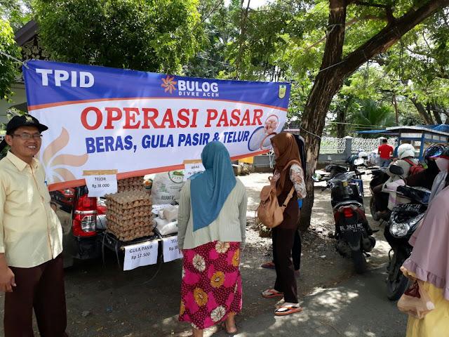 Bulog Aceh dan Pemko Gelar Operasi Pasar