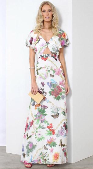 Linda de Morrer coleção verão 2017 vestido longo com recortes