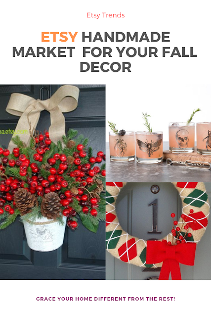 Take a look at some great decorative items for your #home from Etsy. I am always sourcing unique decor and Art and have found Etsy a great go-to resource.    Here are a just few of my favorite vendors for seasonal decorating: #holidaydecor #holidaydecoratingideas #christmasdecorating #wreath #curbappeal #christmasdecor
