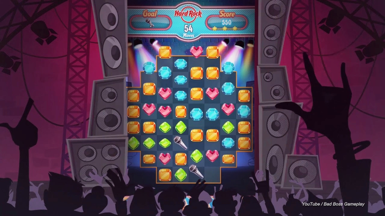 hard rock puzzle match ios android game free download bad