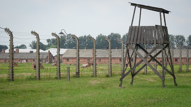 Observing towers in Auschwitz