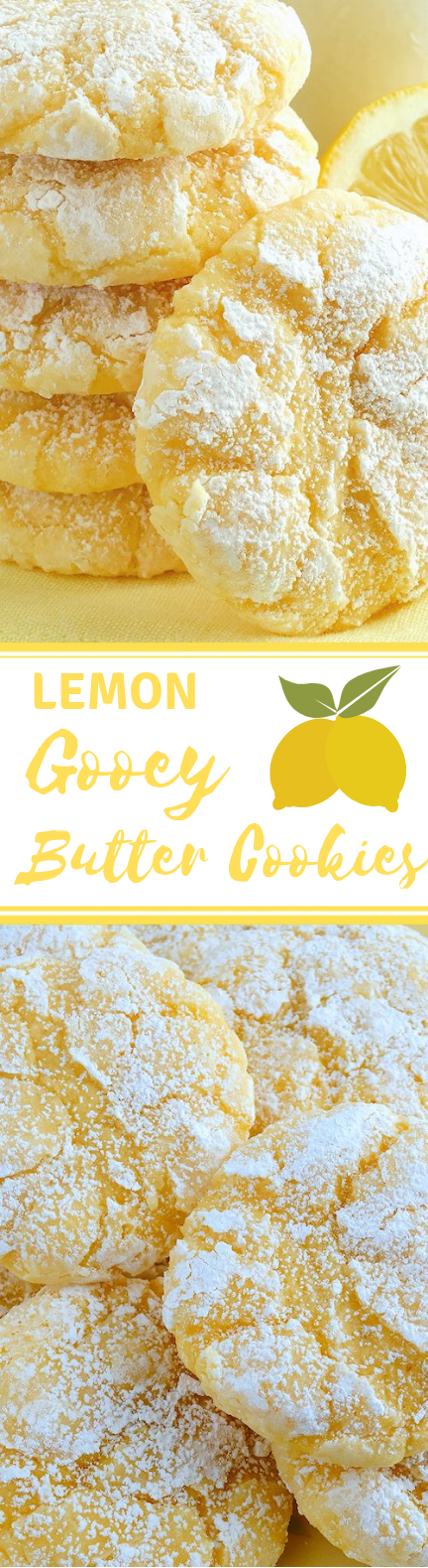 Lemon Gooey Butter Cookies – Best Ever {from scratch!} #Cookies #LemonDessert