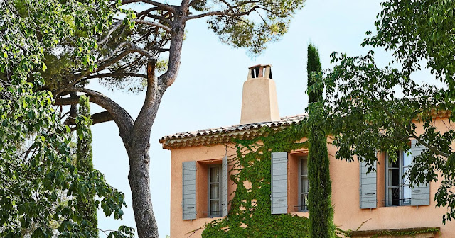 Exterior of French Country Home in Provence, Frederic Fekkai seen on Hello Lovely Studio