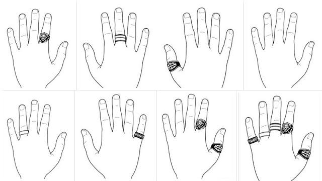 tu pe ce degete porti inelele?