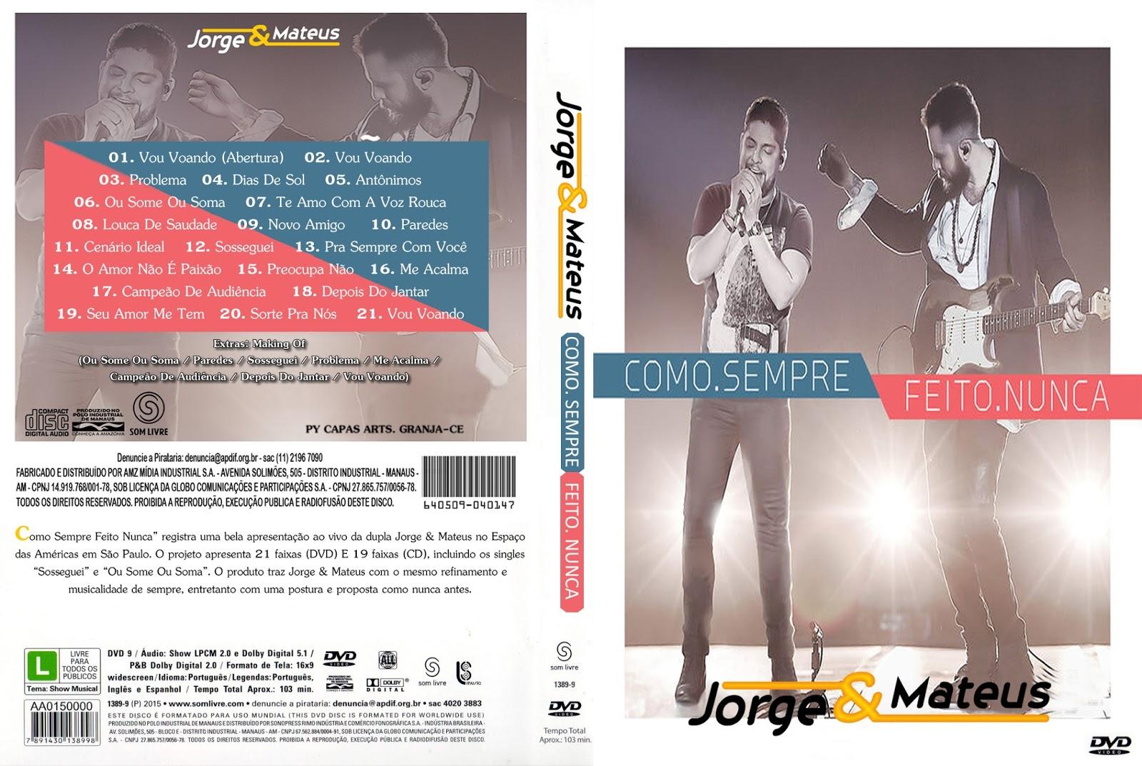 Jorge & Mateus Como Sempre Feito Nunca DVD-R Jorge 2B 2526 2BMateus 2BComo 2BSempre 2BFeito 2BNunca 2BDVD R 2BXANDAODOWNLOAD