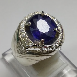 Batu Permata Royal Blue Saphire - ZP 1084