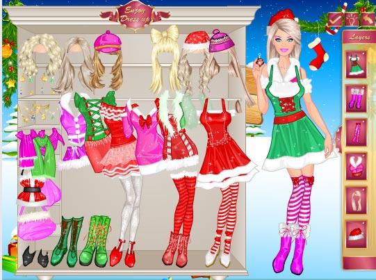 El Disfraz De Navidad De Barbie Infantiles Juegos Entretenimiento