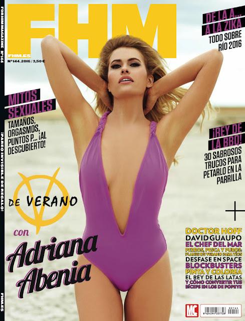 Actress, Model, @ Adriana Abenia - FHM Spain, July 2016