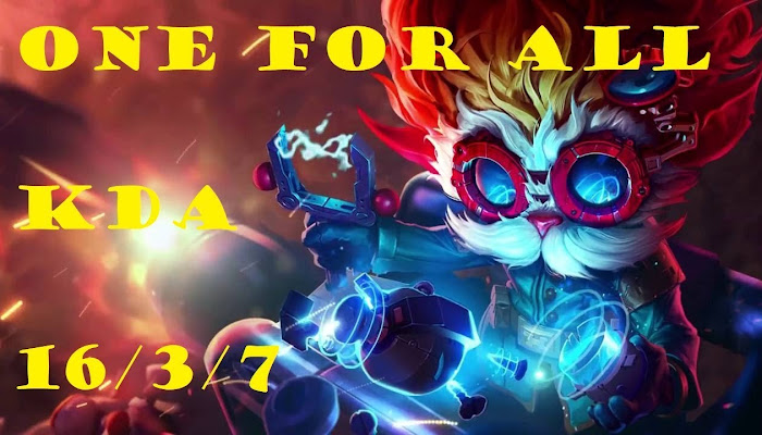amigo681 *BoMb | OneForAll | Heimerdinger | kda 16/3/7| League of Legends | LoL