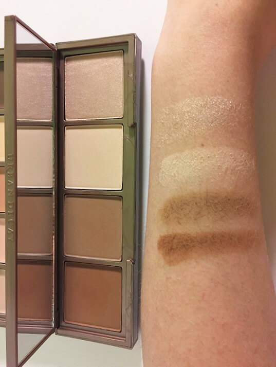 Urban Decay Naked Skin Shapeshifter powder swatches