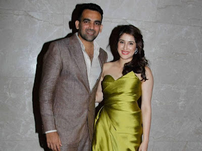 Zaheer Khan and Sagarika engagement