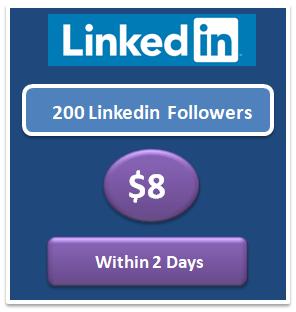 200 free Linkedin followers