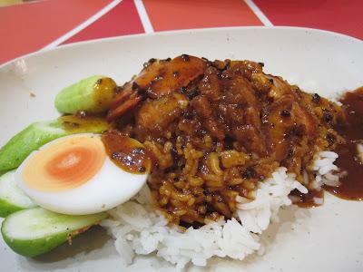 Bangkok, Platinum Mall food court, char siew rice