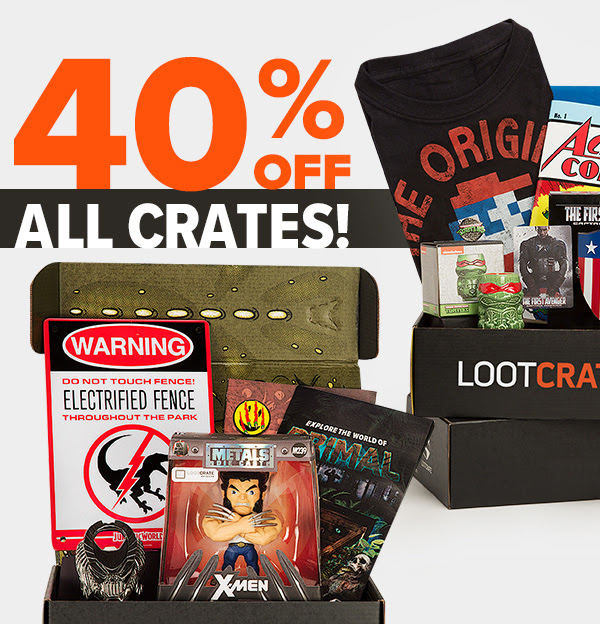 loot crate 40% off