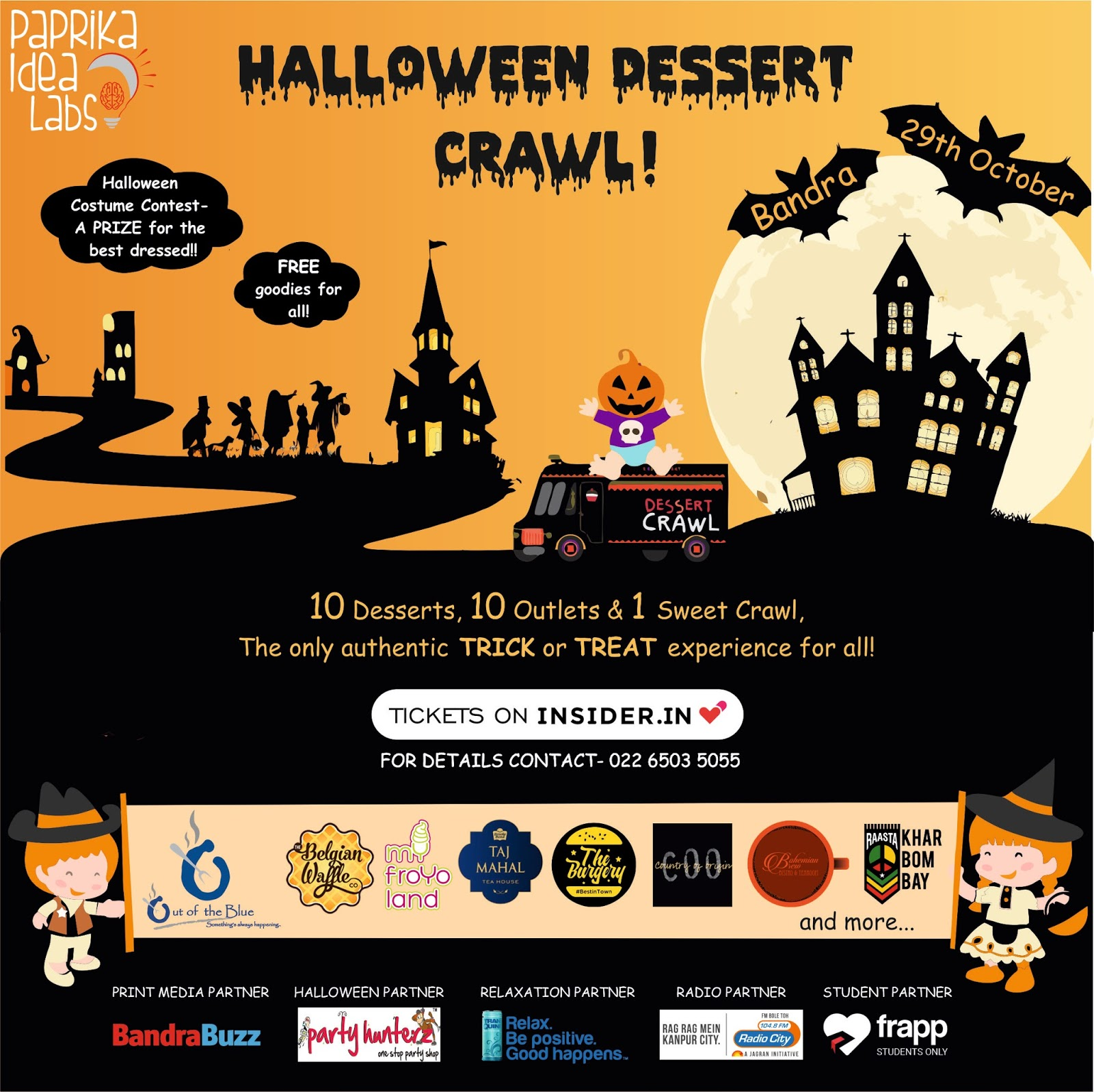 Win tickets to the Halloween Dessert Crawl 2017 | Everything On A ...