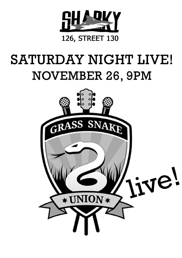 Sharky's Saturday Night Live! Nov 26, 2011: Grass Snake