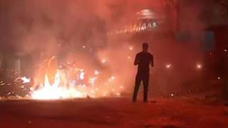 Explosões de fogos e bombas