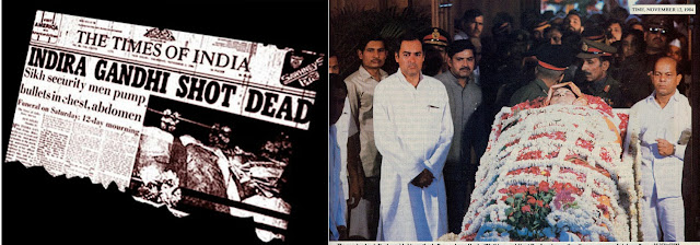 Rajiv Gandhi near the body of Indira Gandhi
