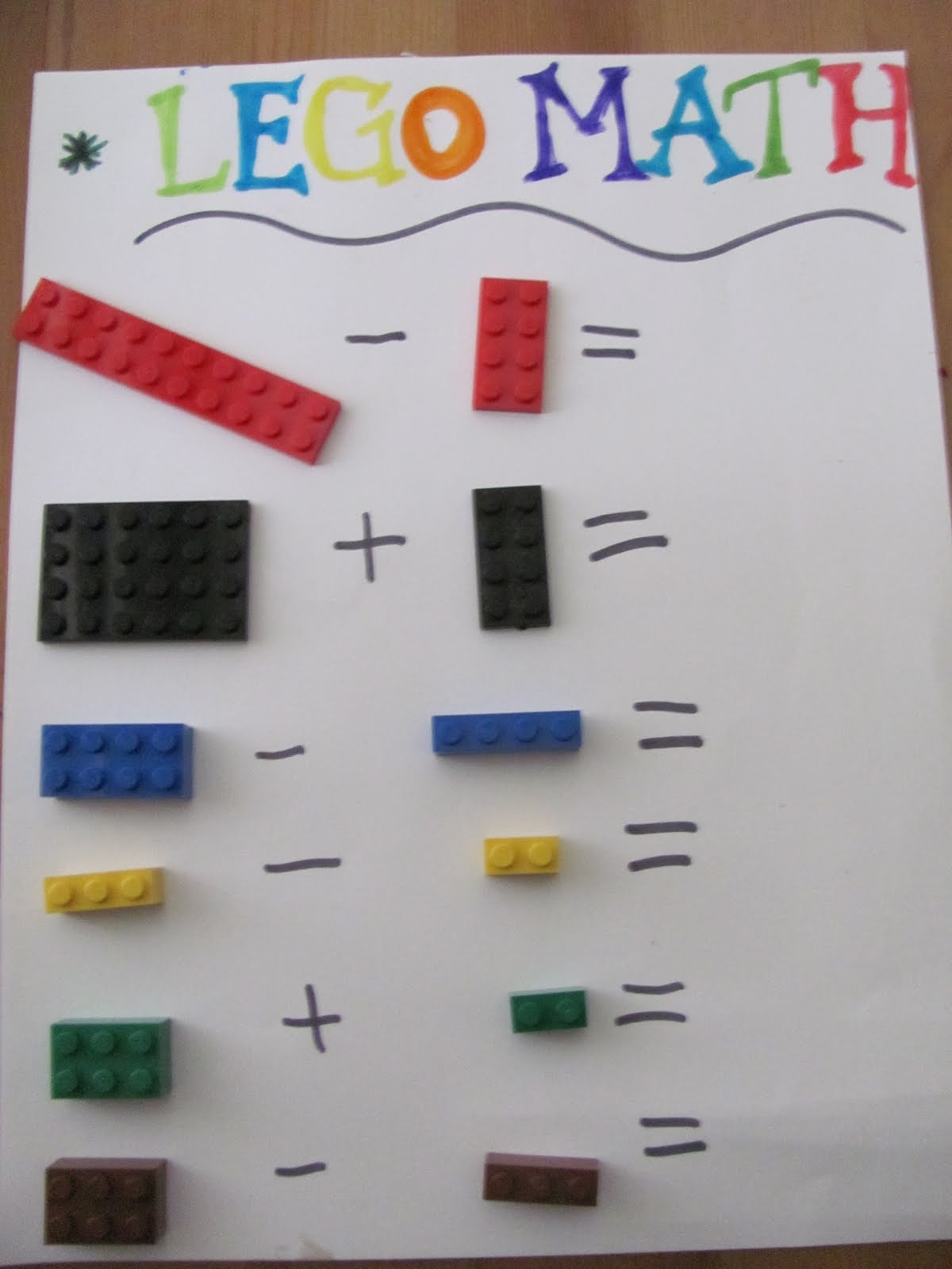 Life In The Unknown Lego Math Two Ways
