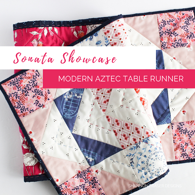 Sonata Showcase Modern Aztec Table Runner Cover Page