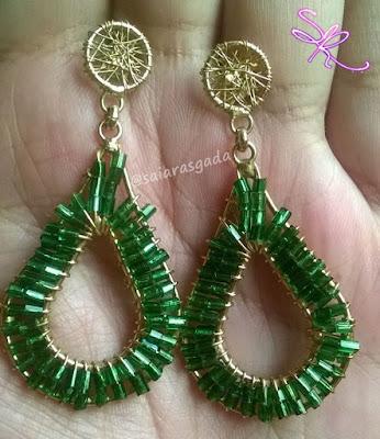 desafio fotografico brinco verde joia linda bijuteria