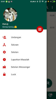 BBM MOD iMessenger v7 Tema Whatsapp Base v3.0.1.25 APK Terbaru
