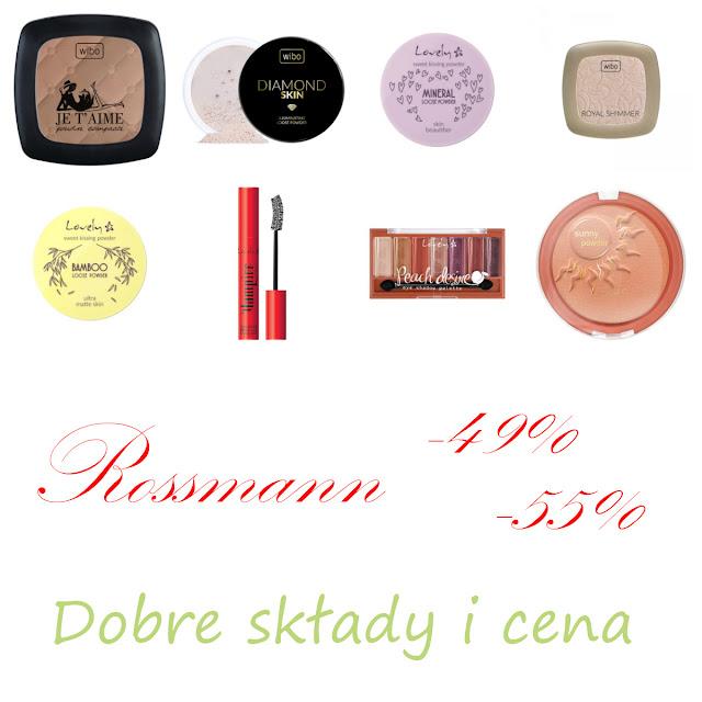[515.] Co kupić na promocji w Rossmannie -55%? - Dobre składy i cena - Wibo i Lovely