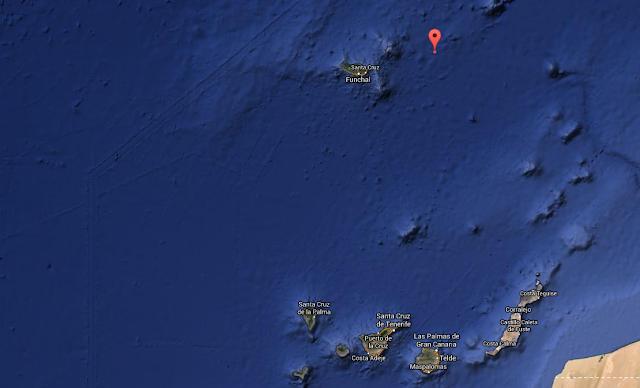 Terremoto Atlántico Madeira, 5 grados 7 febrero