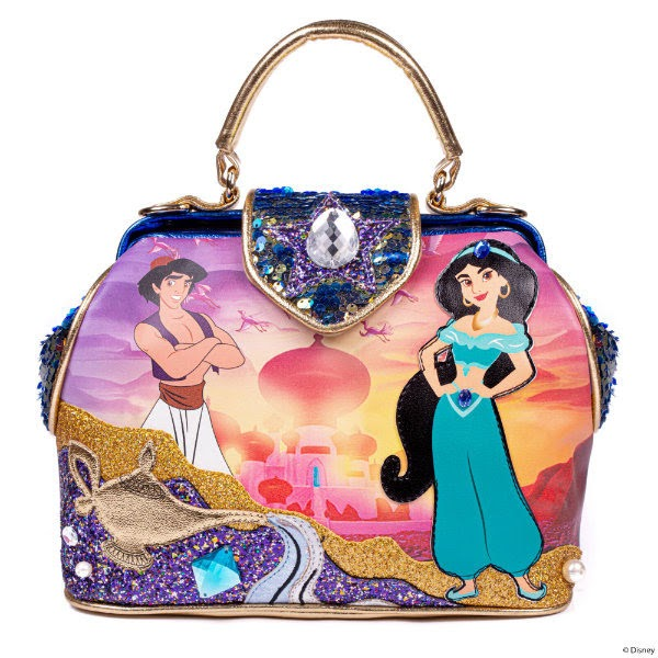 irregular choice disney aladdin themed handbag with twilight agrabah palace scene
