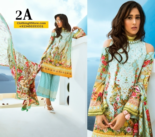 Honey waqar Luxury lawn Collection 2017