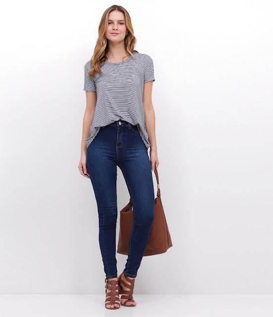Calça Cigarrete Feminina em Jeans Lojas Renner