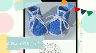 Botas tejidas o Patucos de bebé - diy