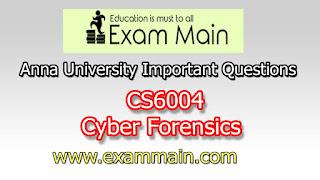 CS6004 Cyber Forensics