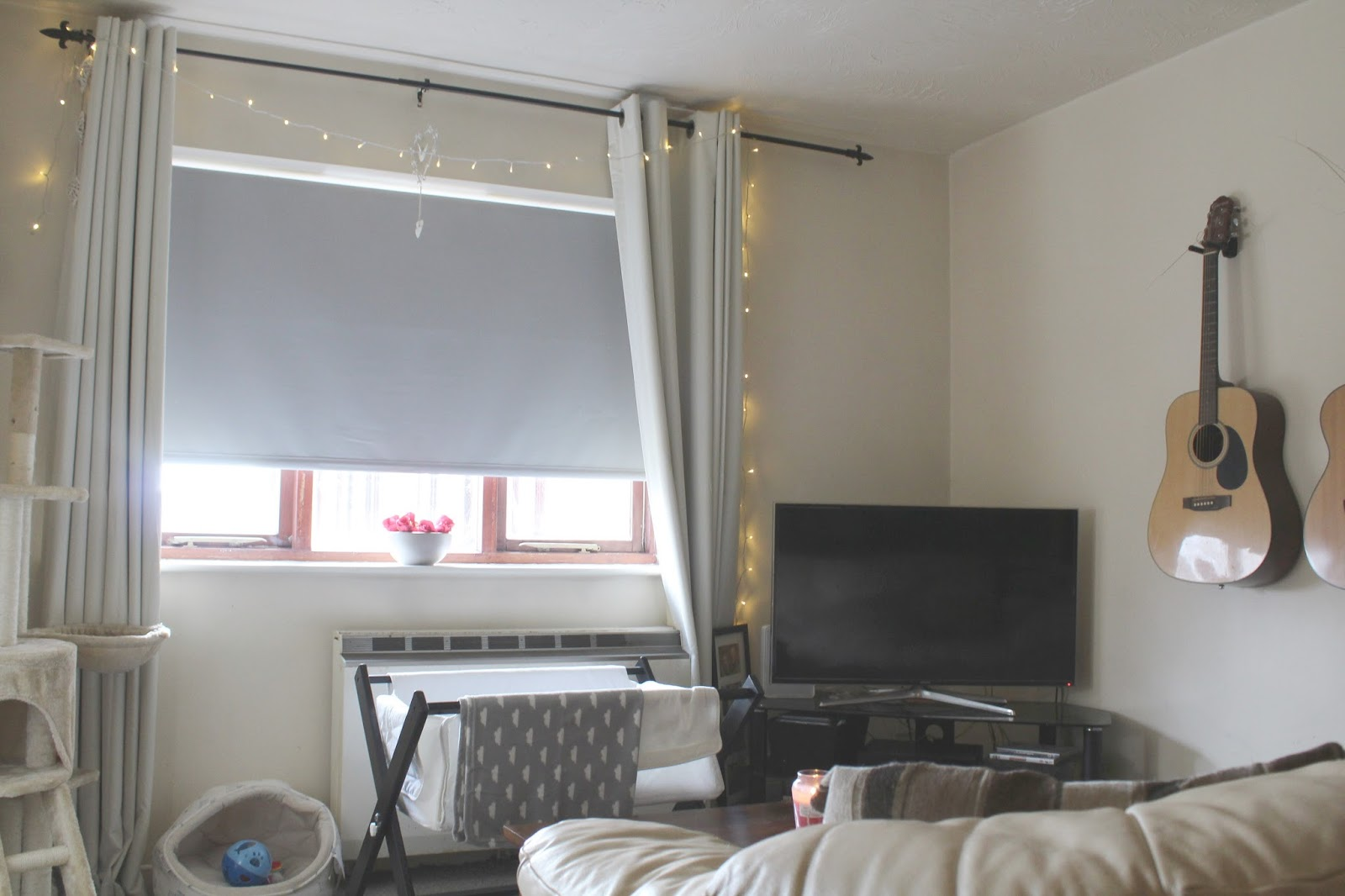 direct blinds grey roller blinds and fairy lights
