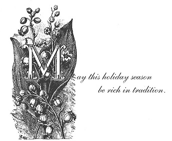 VERSE INSIDE OF CHRISTMAS CARD