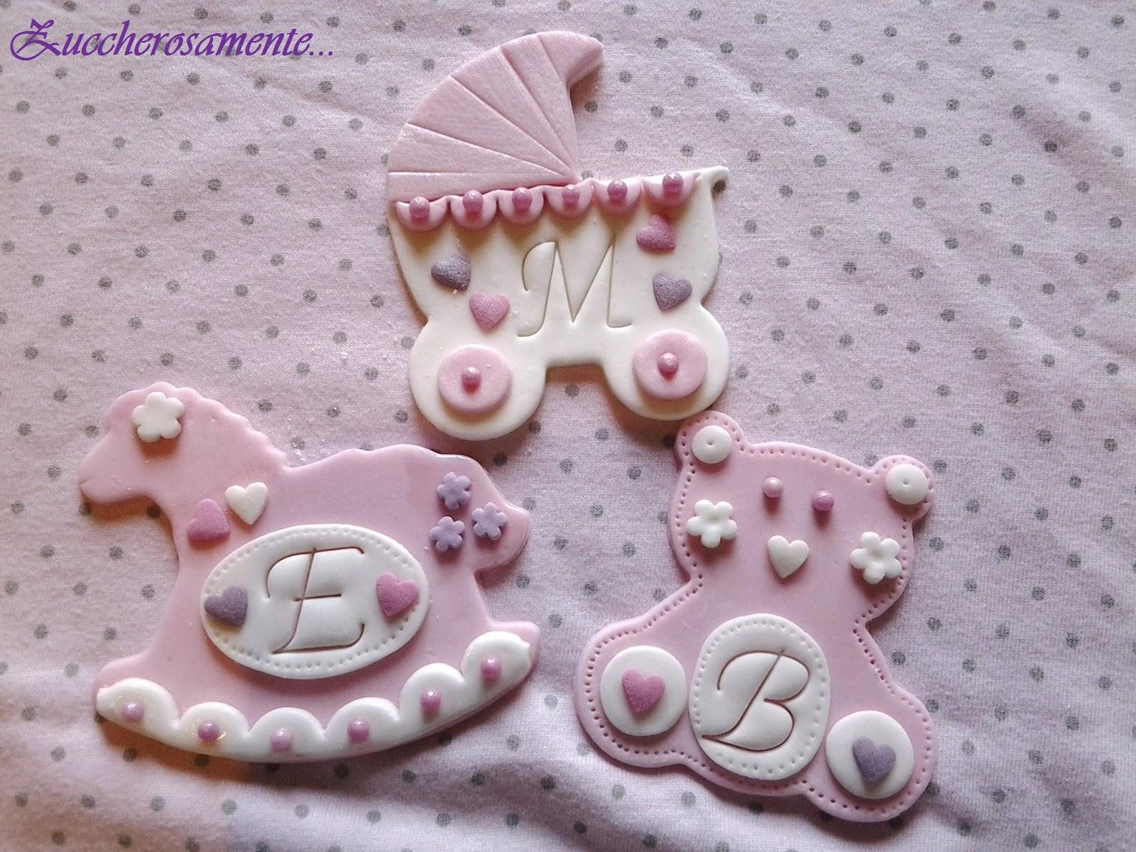 Eccezionale Zuccherosamente: Biscotti battesimo decorati in pasta di zucchero WJ09