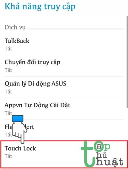 Thủ thuật tắt cảm ứng tạm thời trên điện thoại Android