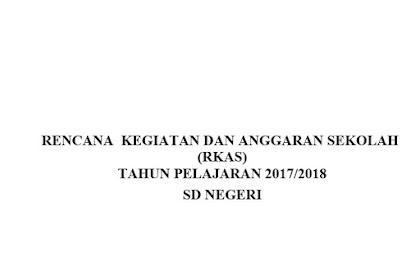 Contoh RKAS SD Terbaru