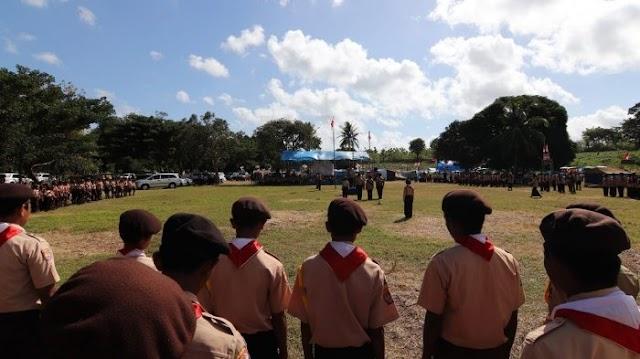 Kwartir Ranting Gerakan Pramuka Kecamatan Sliyeg  menyelenggarakan Perkemahan Penggalang