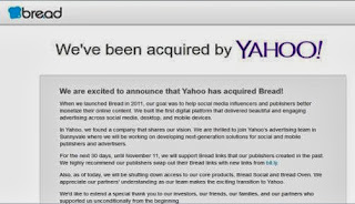Marissa Mayer led Yahoo Inc. has acquired another startup Bread
