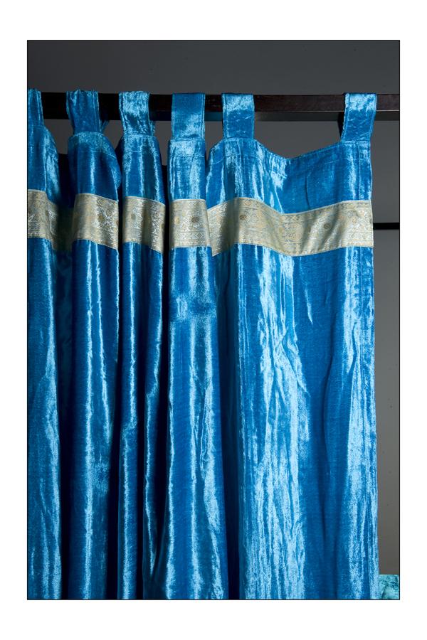Monsoon Craft.com: Indian art silk,sari & velvet curtains