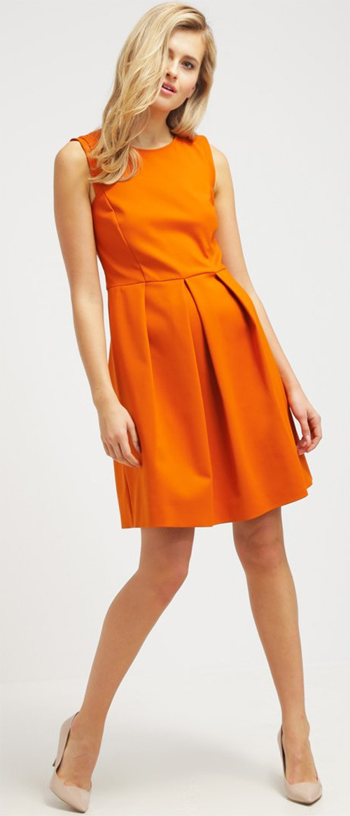 Robe courte de cocktail orange Patrizia Pepe