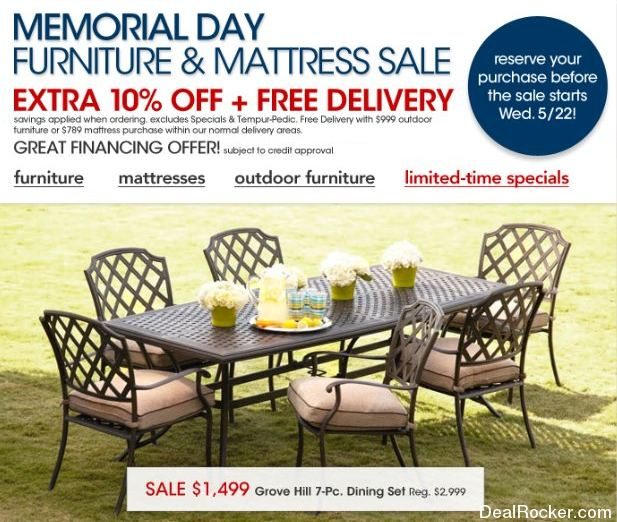 Memorial Day Furniture Sale 2016