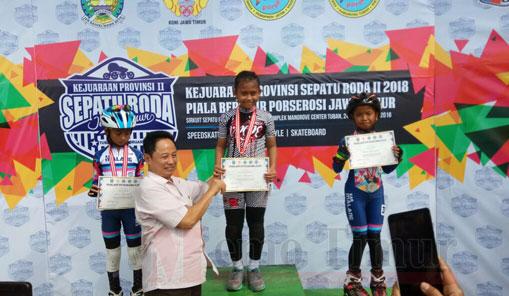 Atlet sepatu roda dari Lumajang berhasil meraih juara di tingkat provinsi