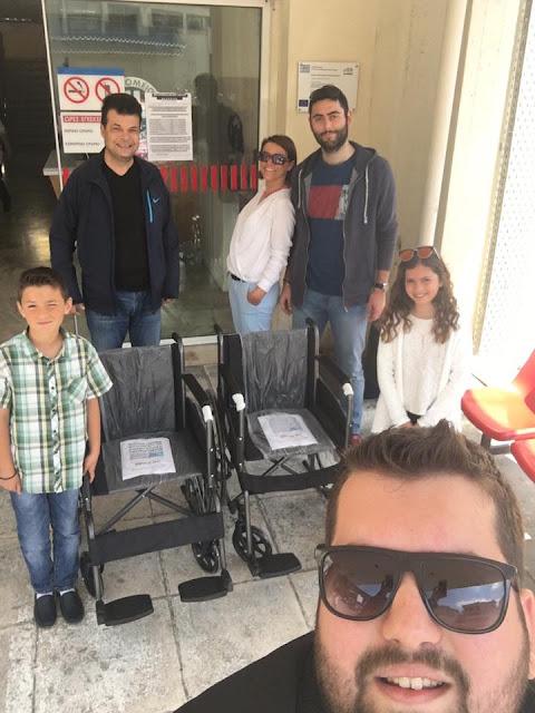 Γ. Λυσίκατος & Π. Τούμπας παρέδωσαν τα 2 αναπηρικά αμαξίδια στο Νοσοκομείο Ναυπλίου