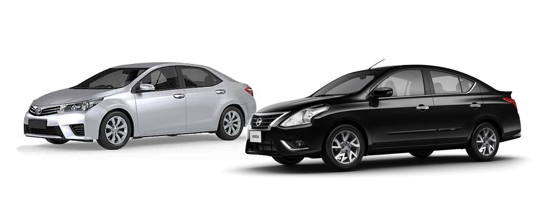 Compare e comprove: Nissan Versa Unique automático encara Toyota Corolla GLi