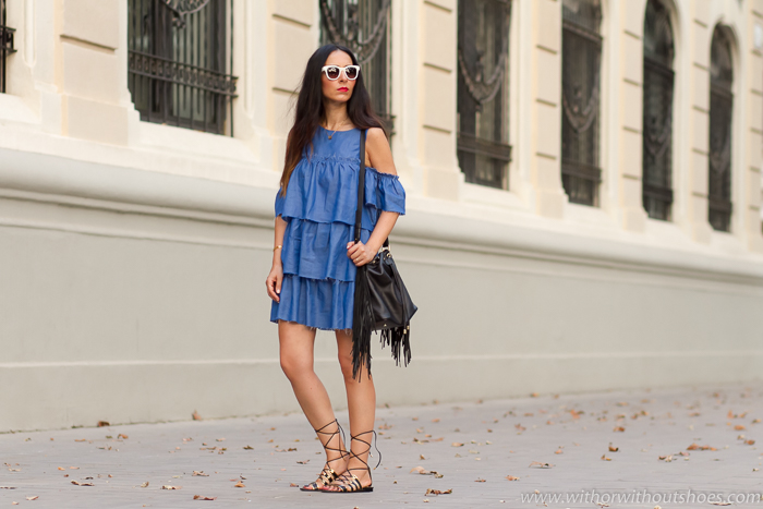 Blog influencer de moda belleza de Valencia con look urbano con vestido mini de Zara