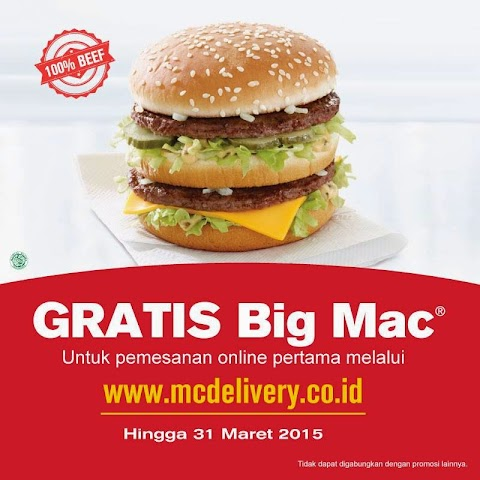 Order Online McDonald's di www.mcdelivery.co.id