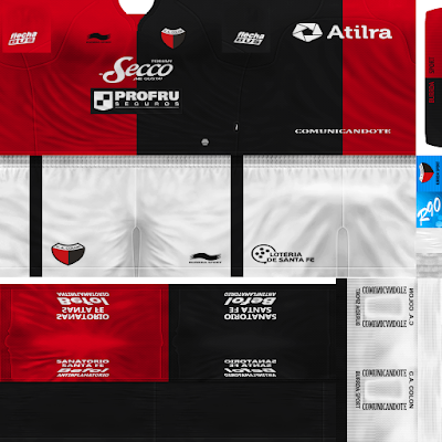 PES 6 Kits Colon de Santa fe Season 2017/2018 by Rodry90 Kitmaker